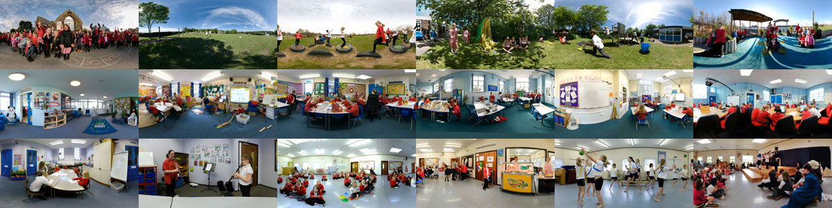 Montage of school activities and classrooms